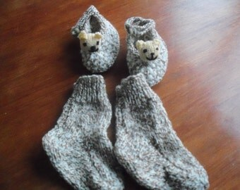 Teddy Bear Slippers and Socks