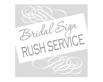 RUSH SERVICE - Add on for shipping out in 1-2 business days