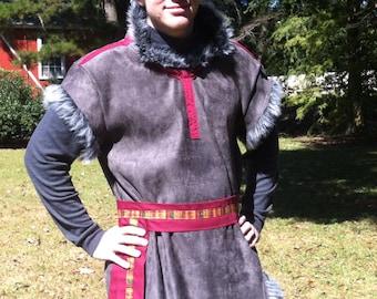 Kristoff themed costume from Disney's Frozen, renaissance faire, ice harvester