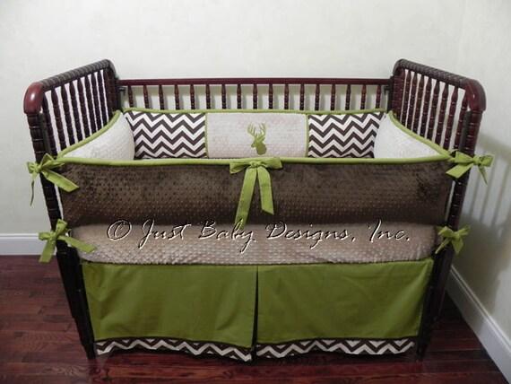 Custom Crib Bedding Set Bennett Baby Boy Bedding. Brown