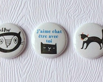 "3 badges 1 ""cats"