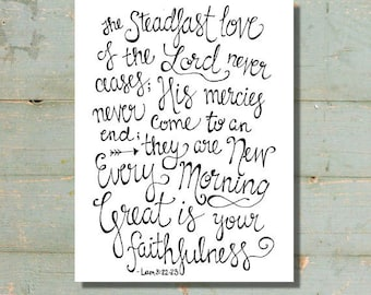 Great Is Your Faithfulness Print