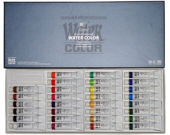 Shinhan Artists Watercolor Paints set of  30 colors Assorted