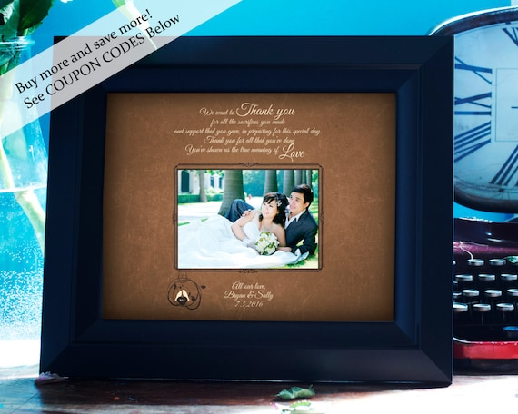 Wedding Gift For ParentsPersonalized Picture Frame- Future In-Laws ...