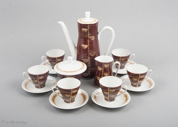 mid century modern coffee set demitasse coffee set 1 coffee. Black Bedroom Furniture Sets. Home Design Ideas