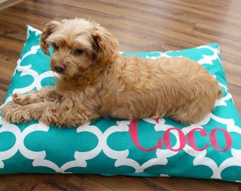 Custom Dog Bed Cover - Pet Bed Cover - Monogram Pet Bed - Pet Duvet Cover - Pet Bed - Cat Bed