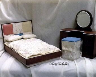 Sale! Modern Bedroom Set for Barbie Blythe Monster High Liv Dolls