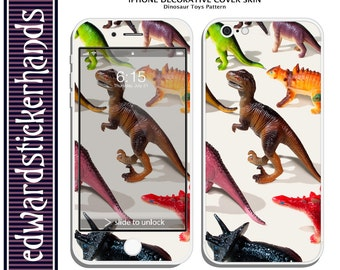 iPhone Decorative Cover Skin - Dinosaur Toys Pattern!