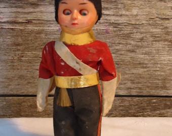 vintage doll British soldier toy soldier UK bobby