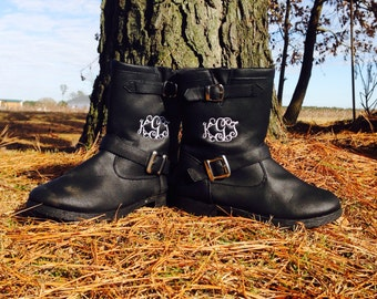 Women's Monogrammed Boots/ Monogrammed Riding Boots/ Monogrammed Cowboy Boots/ Women's Boots/ Girl's Monogrammed Boots/ Kids Boots