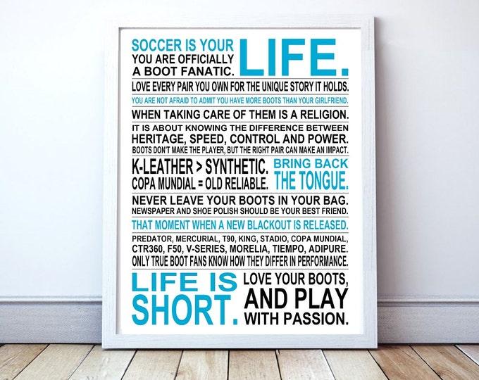 Soccer Boot Fanatic - Custom Manifesto Poster Print