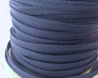 VINTAGE NAVY blue, indigo, ink, classic, trim,10 yards piping, nautical, home dec, upholstery, apparel, millinery, yardage, bolt, roll