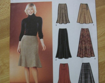 Simplicity 5914 Misses (Size HH 6, 8, 10, 12) & (R5 14,16,18,20,22) skirts in two different lengths. 6 skirts made easy.