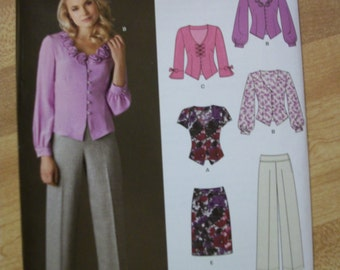 New Look 6011 Misses Size A 10-22 dress  tops,skirt and pants