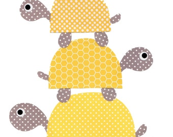 Yellow and grey elephant nursery artwork print baby room for Room decor under 20