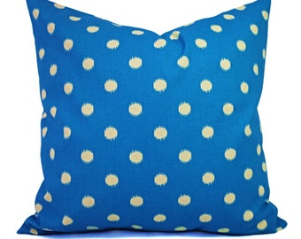CLEARANCE Bright Blue Pillow Covers - Blue Polka Dot Pillow Cover - 12x16 16x16 Polka Dot Pillow - Blue Accent Pillow - Decorative Pillow