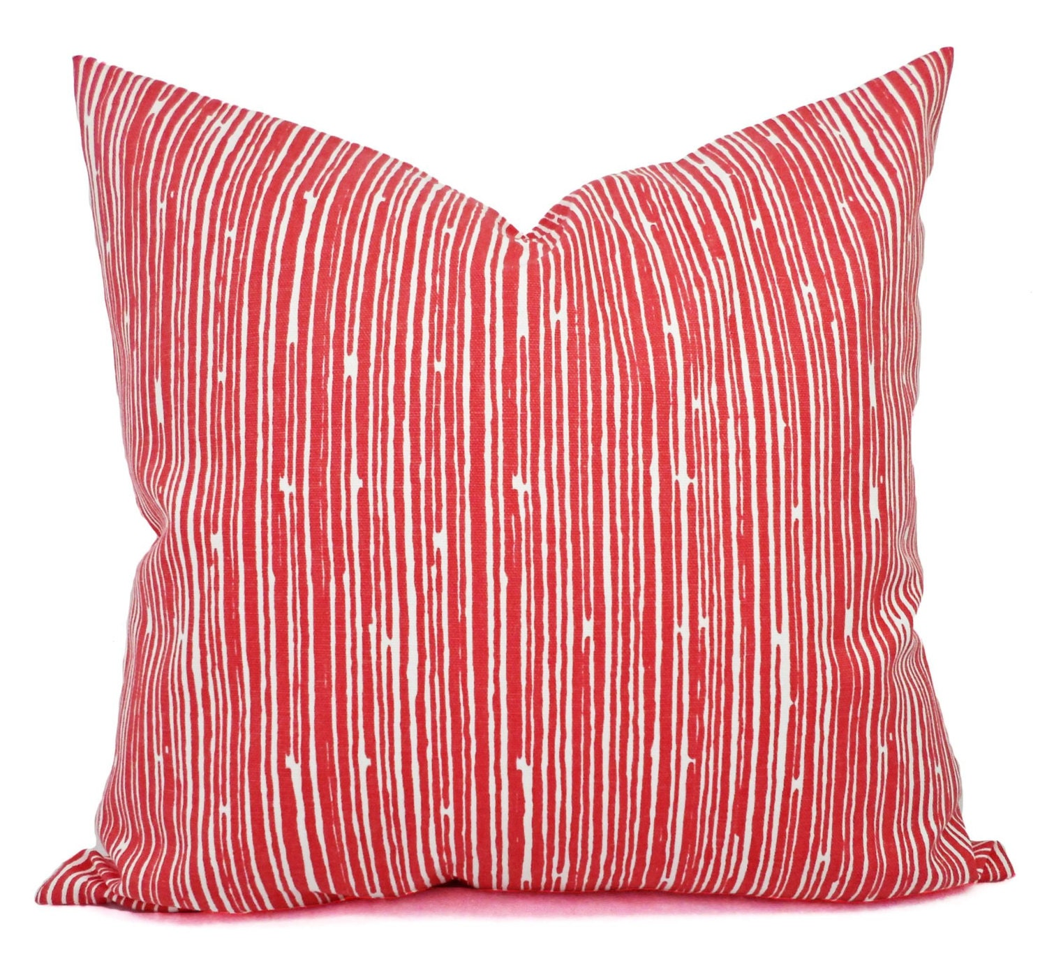 Throw Pillows With Coral : Two Coral Throw Pillows Pillows Coral Stripe Decorative