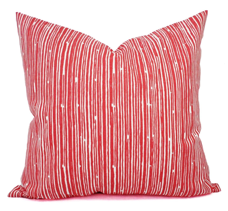 Two Coral Throw Pillows Pillows Coral Stripe Decorative