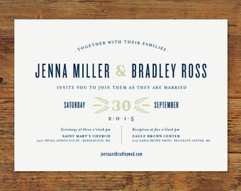 Huckleberry Rustic Wedding Invitation Suite | Print-it-Yourself