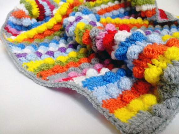 Items similar to Crochet colorful baby blanket Unique baby ...