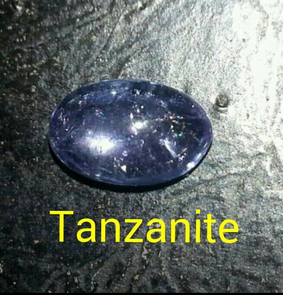 Famous Tanzanite: Authentic Tanzanite Oval Cabochon Gemstone 6X4mm By
