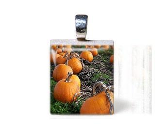 Pumpkin Patch Scrabble Pendant