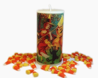 All Hallows Eve Halloween Decor, Halloween Candles, Witchy Decor, Samhain Decor, Dancing Witch Decoration, Halloween Decoration, Witch Decor