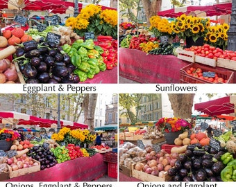 Markets of Provence 1 - 12x16 canvas photo print - choice of images