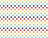 Small Rainbow dots by Riley Blake DOT FABRIC Half Yard