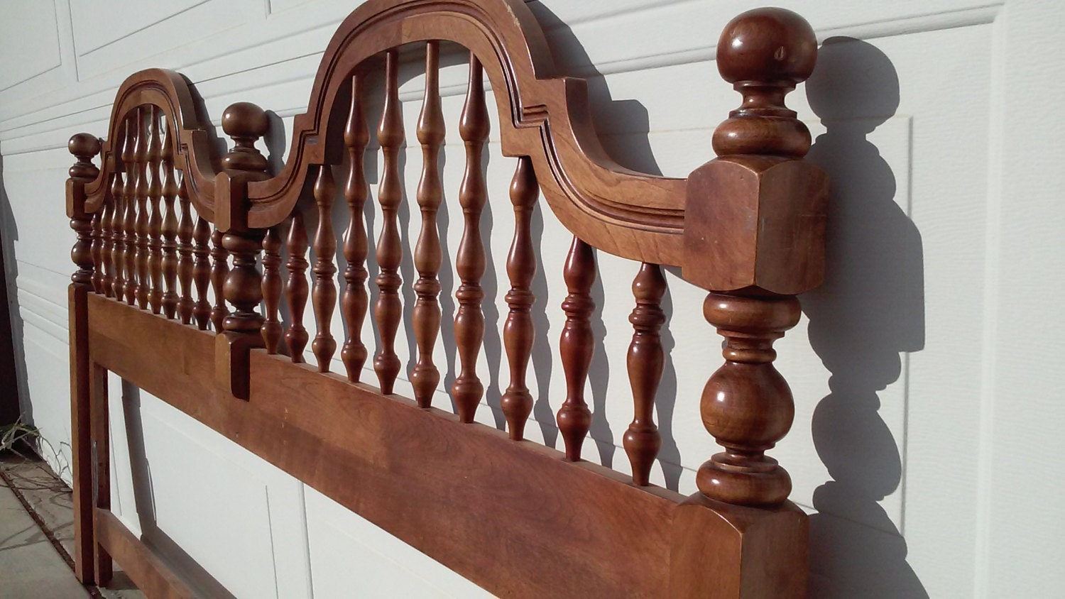 King Headboard Wood Spindles And Knobs Round By Bloomnblossom