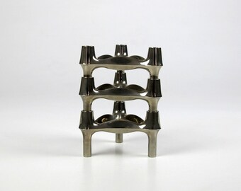 BMF Nagel Candle Holder. Modular BMF Metal Candle Holder. Mid Century Atomic Age. 60s