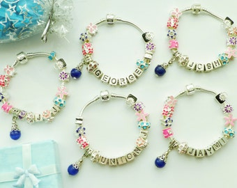 Charm bracelet Union.J -Boy band Add any name pop stars fans bracelet ABC letter charms