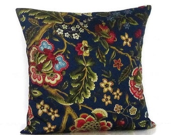 Burgundy Floral Throw Pillows : Items similar to 14x20 Decorative Mill Creek Floral Throw Accent Pillow Cover/ Case, Red ...