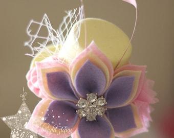 Maze mini felt top hat - Mini top Hat fascinator - Fascinator - mini top hat - hat - Easter fascinator - felt fascinator - felt hat