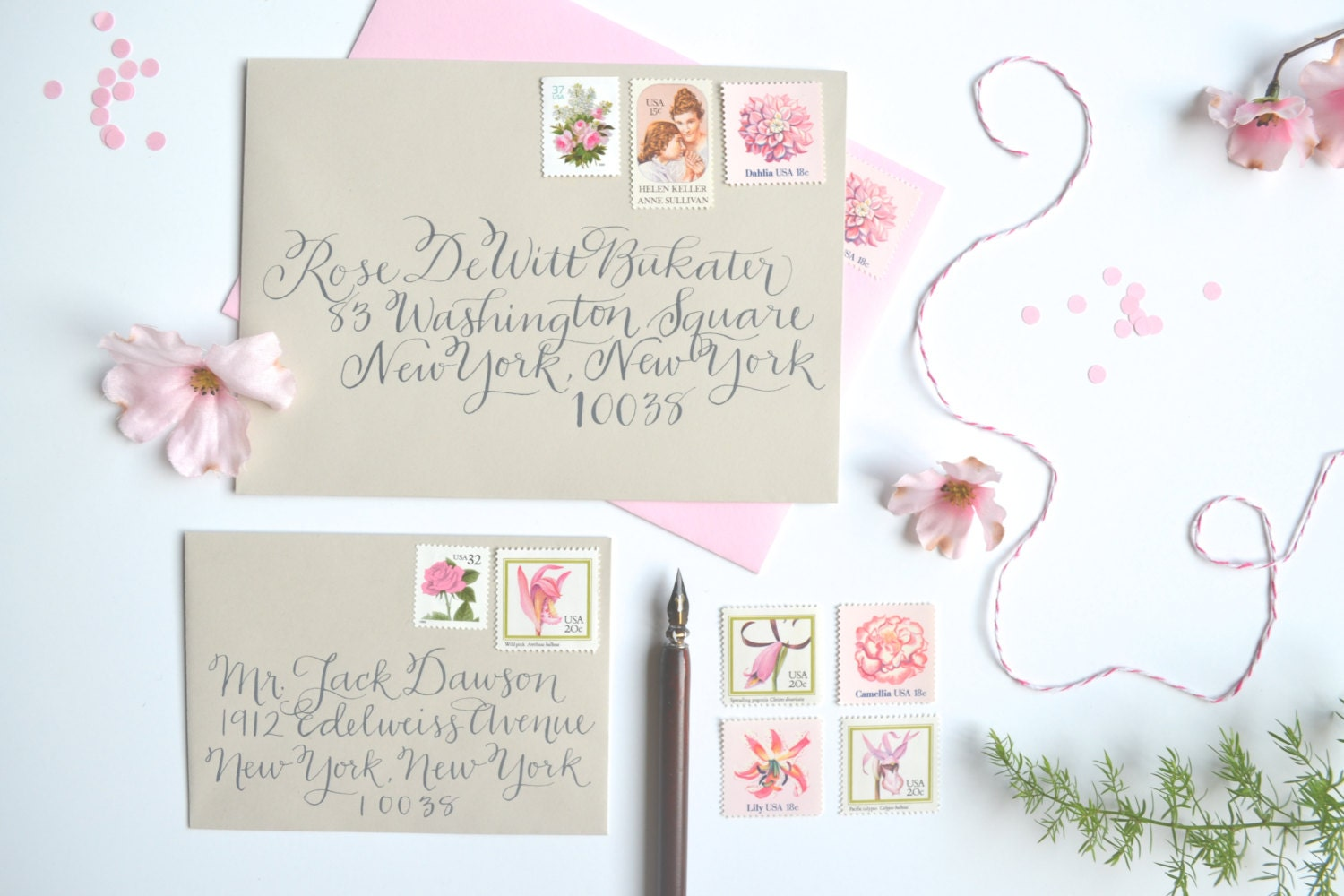 Stamps For Wedding Invitations: Pink Wedding Stamps Vintage Wedding Postage Stamp Pink Flower