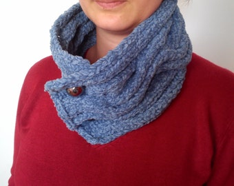 Hand Knit Neck Warmer Scarf Ready to ship