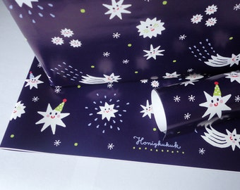 Giftwrap STARRY SKY,  set of 3 sheets
