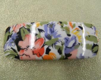 "Vintage floral hair barrette clip 4 1/8"""
