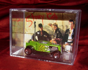 """The Stray Cats """"Rat Rod"""" Collectible display!! Clean,ready to ship,great addition to Cat Collection"""