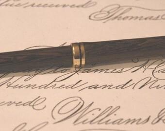 Wenge European Style Pen; Wood Turning