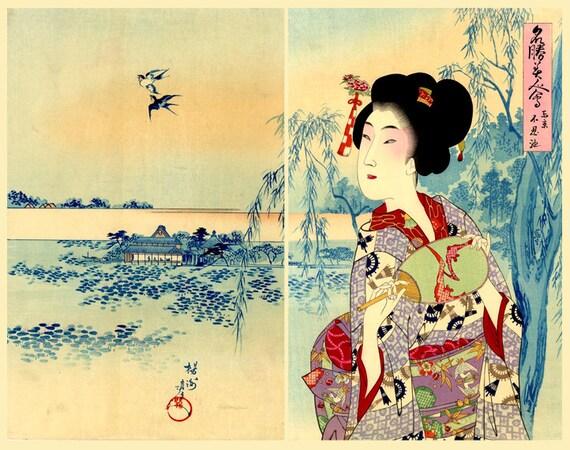 Art asiatique art japonais geishas femmes belles estampes