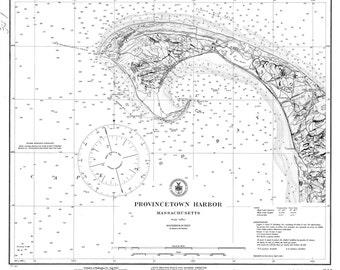 Provincetown Harbor, MA - 1922 Nautical Map   - Reprint - 50000 Harbors 341