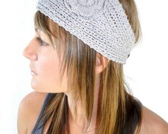 Knit headband and ear warmer