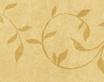 Leaf Scroll Border Stencil