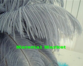 100pcs/lot 12-14inches perfect Grey Ostrich feathers Plumes for Wedding Table Centerpiece and Home Decor
