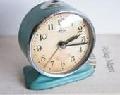 Metal Alarm Clock, Desk Clock, Sevani Soviet Clock, Industrial Home Decor, USSR Vintage, Rare, Limited edition, Industrial Decor