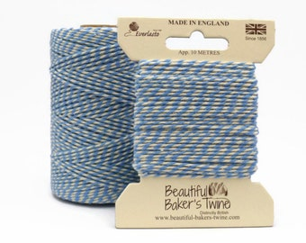 Blue Baker's Twine - 10m Sky Blue and White Butcher's String