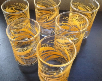 Wheat Harvest Juice Glasses-Set of 6