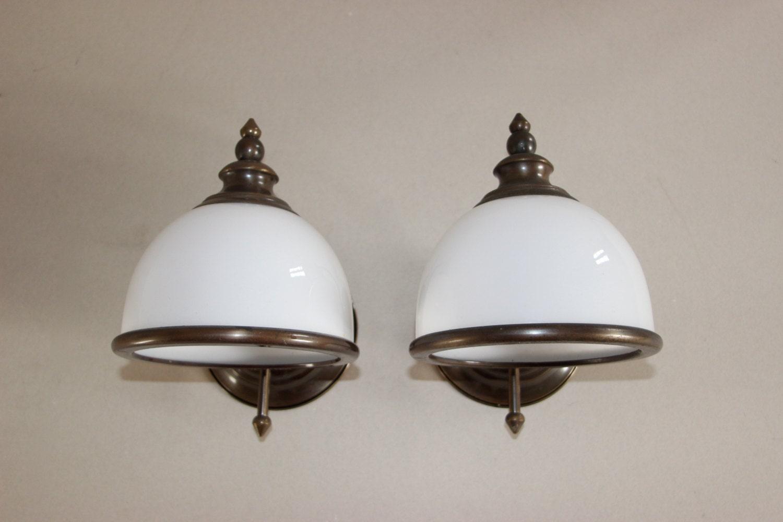 Opaque Glass Wall Lights : Vintage Opaque Glass Wall Sconces. Wall Lights. Art Nouveau