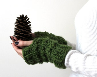 Fingerless Gloves Arm Warmer Grass- Solomon Gloves